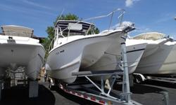 Powered By Counter Rotating Yamaha OX 66 Saltwater Fuel Injected Motors. Well Equipped With Soft Top, Dive Ladder, Garmin 160 Depth Fish Finder, Electric Flush Head With Holding Tank, Shore Power, Windlass And Rear Jump Seats.