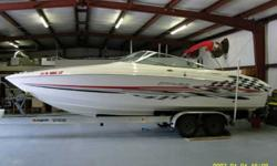 2001 Wellcraft 270 Excalibur This 2001 Wellcraft Excalibur 270 is in nearly perfect condition! It has been dry stored in the owner's warehouse since he bought it new. She only has 102 hours on her big block MerCruiser 454 MAG MPI, which can move the boat