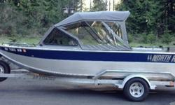 Very well maintained 19' 2005 North River Trapper with 92 hours. The boat is washed down after each use and stored inside. It is fast and outruns the big outboards when it's time to head to the top of the drift. It's a great boat for fishing the Columbia,