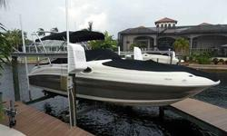 2007 Sea Ray 240 SunDeck For Sale by Power Yachts International - Florida Exterior Color: Grey - Inside color: Tan - Mercruiser 350 MAG MPI - Bravo III DuoProp -Listing originally posted at