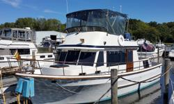 Sadie Too is a nice example of a classic/traditional trawler that has been maintained well. She is a loop veteran and ready to do it again, cruise the Great Lakes or beyond. Her 135 hp Perkins engine is economical burning 2 GPH at 1800 rpm or 8 mph. An