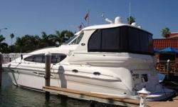 2004 Sea Ray 480 MOTOR YACHT 48' Sea Ray MotorYacht, 2004.Twin Cummins QSMII 640HP with 641hrs. Raymarine RL80 Color Radar/Plotter, Sea Ray Navigator with touch screen, Raymarine 7001 Autopilot, Cockpit Air-Conditioning, Washer/Dryer, Cherry wood