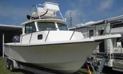 1999 Parker 25 Pilothouse The 1999 Parker 25 Pilothouse was designed for serious fishermen and she's loaded to the gills with all the right amenities. The engine was replaced in 2003 with a Yamaha F225 4-Stroke and has 863 hours on it. The upper helm also