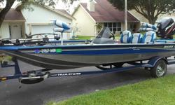 THIS IS AN EXCEPTIONAL BASS BOAT! LOW HOURS AND GREAT CONDITION. ALWAYS KEPT UNDER COVER. SEATS ALMOST LIKE NEW. HAS BIMINI TOP THAT FOLDS DOWN WHEN NOT IN USE.When you contact me please include your phone number.