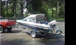1990 FourWinns 150 Freedom With Matching Trailer.Has a 1991 90hp Johnson outboard with power trim runs well also 50 pound thrust minkota spider electric troller.2 batteries.Hummingbird Fish Finder.Full Bimini Canvas Cover.2 New Walker Down Riggers With