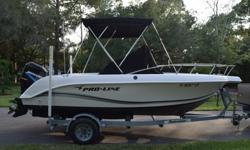 This is a 2000 Proline 192 + 2000 Mercury 125hp and a 2005 Performance trailer. I got rid of my larger boat and this was used as a partial trade. Very clean hull and looks like it was babied! Comes with: Canvas console cover, Garmin GPS with fish finder