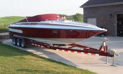 Use: Fresh Water Make: Falcon RolyaleEngine Type: Twin Inboard/Outboard Type: Off ShoreEngine Make: Mercury Engine Length (feet): 36Engine Model: 454 Beam (feet): 8Primary Fuel Type: Gas Hull Material: FiberglassFuel Capacity (Gallons): 101-150 Trailer: