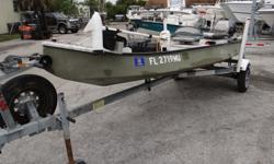 """Standard Classic 15'6"""" Boat, With Swivel Seats 40lbs, Trolling Motor With Battery, Also Powered With An Electric Start 2009 Yamaha 20HP (4-Stroke) Outboard Motor, This Beauty Also Has A Bottom Machine And Comes With A Trailer. This Baby Is Ready To"""
