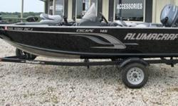 "Purchased new from Cabelas this spring. Used only 2 times, this boat is loaded, showroom clean and ready for the water today. Yamaha 4 stroke power Min Kota 55PDV2/54"" 27 Series Cabelas Battery Elite-4X HDI W/DSI Sonar 4X Aluma-Trac Clamp Rod Holders"