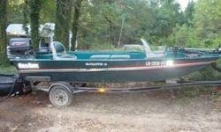 1998 alumium 15 ft boat with 25 hp motor , deph finder , 25 pound thrust trolling motor , live well , rod holders , seats up to 4 people , swivel seats , stick sterring , runs good , please call and leave message . 318- 614-2701 . located around west