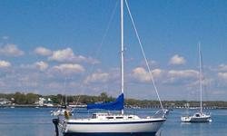 This is the original O'Day 25, with all of her original features. With this classic sloop, you have head-room for a full sized adult, while sleeping up to 5 people comfortably. This sloop is a mast-head rig, with 290 sq. feet of sail area, head-sail