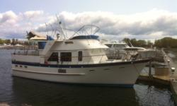 Terrapin is a classic 2 stateroom 2 head DeFever 44 Offshore Cruiser in good condition. She offers twin Ford Lehman 120 hp main engines, Onan 8 kW generator, Naiad stabilizers and a KVH satellite TV system. Terrapin is a Great Loop veteran,