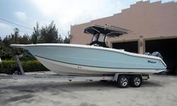 This dry stored Triton 2895 CC is a big, beamy 29 footer. She was built to live offshore. The wave shredding, spray shedding deep vee hull will get you out and back in comfort. Every inch of this boat was built with fishability, storage space and comfort