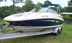 2010 Sea Ray 220 SUNDECK Just taken in trade. Very clean with 51 hours. SeaRay owner moved up to a larger SeaRay. You must put this boat on your list to view. Trailer is not included. For more information please call: (888) 816-6651 or call us toll-free