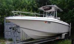 2003 Fountain 290CC Fountain's reputation for building fast, efficient and comfortable fishing machines is certainly deserved. The 290 CC offers all the gear needed for quick trips offshore. The big Opti's will provide 50+ mph speeds with good range. With