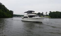 1990 Tollycraft 39 sport is 46' overall and boasts a unique Tollycraft layout with the addition of an extended aft deck to give it the appeal of a sedan and the interior space of an aft cabin. Draft: 3 ft. 0 in. Beam: 14 ft. 8 in. Displacement: 25500 Fuel