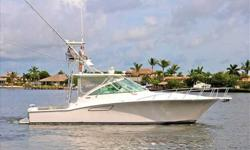2006 Cabo Yachts 40 EXPRESS Fishy Wishy has just entered the brokerage market as the owner has decided to move up. MAN 800 Common Rail makes this 40 Express cruise to the fishing grounds with little effort. Great option list, electronics, and a boat that
