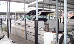 Full canvas winter cover, Camper back enclosure, and standard sloped enclosure. This model was one of Sea Ray's most popular, and no wonder!! She's a spacious family cruiser at a very affordable price! Looks great underway and at the dock. Her huge