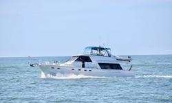 Sea Jamm is a 1998 47' Bayliner 4788 raised pilothouse motoryacht. She is in very nice condition and offers twin Cummins 330 hp main engines, Westerbeke 12.5 kW generator, 3 stateroom 2 head layout, new Muir anchor windlass, new Simrad autopilot, new