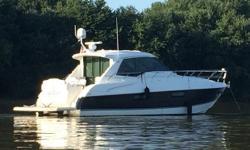 Seascape is a 2011 48' Cruisers Cantius express motoryacht. Seascape offers twin 435 HP Volvo Penta main engines, 15.5 kW Kohler generator, joy stick control, Volvo dynamic positioning system, TNT tender lift/swimplatform, KVH satellite TV system,