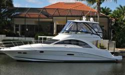 2008 Sea Ray 47 SEDAN BRIDGE Awesome views and breathtaking design are the hallmarks of this luxurious sport yacht. They start on asoaring bridge deck that comes with all the latest equipment for easy navigation and on-water entertainment,and continue in