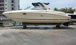 2004 Sea Ray 290 BOW RIDER 290 SELECT has been Stored indoors, low hours and all the right options make this a highly sought after Bow Rider. Options include Capt's Choice Exhaust, Navman Color GPS/Plotter, VHF Radio, Fiberglass Arch, Shore Power, Battery