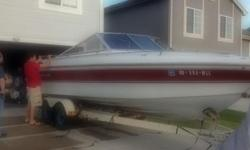 I have a sweet running boat with upgraded V8 260hp motor. Would consider trading for your vehicle. Open to offers but NO projects. 1984 Crestliner 22 foot Cabin Cuddy with Yacht Club trailer. This boat has an upgraded monster V8 mercruiser (260hp) with a