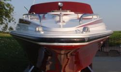 Year: 1982Use: Fresh Water Make: Falcon RolyaleEngine Type: Twin Inboard/Outboard Type: Off ShoreEngine Make: Mercury Engine Length (feet): 36Engine Model: 454 Beam (feet): 8Primary Fuel Type: Gas Hull Material: FiberglassFuel Capacity (Gallons): 101-150