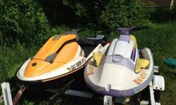 Package deal - 2 jet skis and a double trailer:2005 Sea Doo 3D: We're not sure how many hours are on it, but we have had it for 2 years, have hardly ever used it, and it runs well. It is very fast and a lot of fun to ride. Brand new cover. We've had it