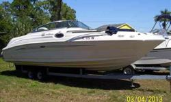 2008 Sea Ray 240 SUNDECK Very clean Trade-In. New Risers/Manifolds. Lift stored out of sun. For more information please call: (888) 816-6651 or call us toll-free at: (888) 510-8204 and reference stock number: 108974 BoatingBay.com 139115