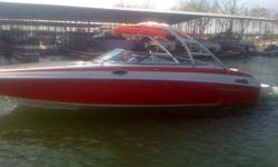 Powered by a Merc 350 Mag (152.6 Hours) this 2011 Crownline is a ONE OWNER/LIKE NEW boat! Features include:Snap on cover's (red),Dual Battery, Battery Switch, Snap-in Carpet (gray), Depth Finder, Docking Lights, Automatic Trim Tabs, Bilge Pump, Captains