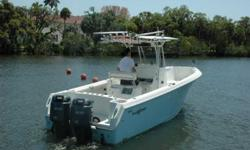 2006 Sailfish 2660 CC This 2006 Sailfish 266 Center Console is in excellent condition and ready to turn heads with its beautiful light blue hull. She's equipped with Twin Yamaha HDPIs with only 181 hours! The boat has been well maintained and kept very