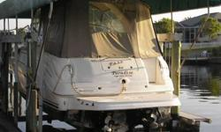 2003 Sea Ray 280 SUNDANCER Clean 280 Sundancer with twin 4.3L MPI 220hp Mercruisers, Full Galley, Enclosed Head with Shower & Vanity, Hot Water Heater, Kohler Genset, AC/Heating, GPS, VHF, Camper Canvas and much more. Recently serviced and ready too