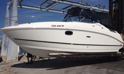 This is an immaculate boat. It has been kept in the same Marina since new. The boat has only 110 Hours and has many options and upgrades. The cabin has never been used or slept. It is smelling like new. It is very cleanMerCruiser 350 MAG ECT* Bravo