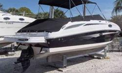 2011 Sea Ray 260 SUNDECK Purchased just 1 year ago, this exceptionally clean 2011 Sea Ray 260 Sundeck has been kept high and dry at MarineMax Sarasota since new. Gorgeous Black Two-Tone exterior with Quartz & White interior. The owner is moving up to an