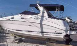 2006 Sea Ray 280 SUNDANCER Immaculate 2006 Sea Ray 280 Sundancer - Only 120 hours on Twin 4.3L Mercruisers. 5kW Kohler Generator with A/C & Heat. Kelsea II was aways a snowbird spending summers on a fresh water lake and winters in high/dry storage here on