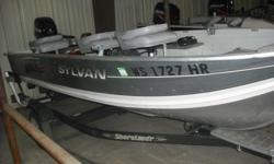 "- Length: 14'5""/4.39 m - 20hp Mercury EL 2 Stroke - Aluminum Fish Boat - ShoreLand Roller Trailer"