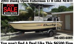 Dusky Boat 17 ft 2003 For Sale Super Cheap! The Boat Is Ready For The Water Comes whit a 1999 90hp Mariner Ready 125 Psi in Each cylinders The Trailer is a 2013 T-Top and much much more!