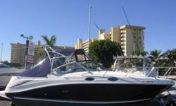 2006 Sea Ray 270 Amberjack This Sea Ray combines all the confort of a cruiser but also has fishability with the live well and rod holders and then you can go below onto the comfort of A/C , shower , vacu-flush head,refrigerator and more This listing has