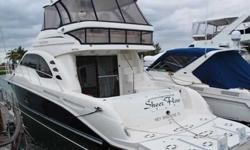2006 Sea Ray 58 SEDAN BRIDGE This beautiful blue-hulled 58 Sedan Bridge is fully loaded and ready to cruise. She has DSS, bow thruster, hydraulic platform, watermaker, helm a/c, helm icemaker, Flybridge flat screen TV, and much more. This extremely well