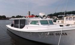 JUST REDUCED FROM $110,000 to $74,500ALL SERIOUS OFFERS WILL BE CONSIDERED!CALL FOR MORE INFORMATION: (757) 313-8787The Miss Diana is a traditional wooden deadrise built in 1989 by Edward Diggs at Horn Harbor Marina. She is 44' x 13' beam with a 3.5'