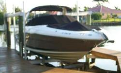 2007 Sea Ray 290 SELECT YES, IT'S IMMACULATE:) Original owner is moving, causes sale. Long list of Standard Features and desired Options. All service is up to date. Don't let this one pass you bye. Please call listing agent for more details. For more