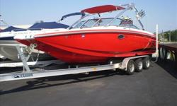 Powered by Twin Inmar 350 MPI MCX 350 h.p. each w/236 hours this Mastercraft X80 is lake ready! Features include: Full mooring cover, Electric engine hatch, Dual ballast tanks, Trim tabs with indicators, Upgraded stereo with tower speakers, Wakeboard