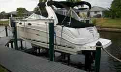 2008 Sea Ray 280 SUNDANCER New to the brokerage market. Owner moving causes sale on his Extremly Clean 2008 280 Sundancer. Twin 4.3L MPI 220hp Mercruisers, Full Galley including Stove, Microwave, Referidgerator & Stove. Enclosed Head with stand-up Shower