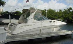 Description 2002 32' Sea Ray Sundancer -- Professionally Maintained w/ only 264 HOURS on Twin Mercruiser 350 Magnum MPI's w/ 300 HP each!!! Immaculate 2002 32' Sea Ray Sundancer with only 264 Hours on the Upgraded 300HP Mercruiser 350 Magnum MPI Engines!