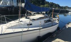 "We're selling our meticulously owned ""Great Escape"". She is a clean, swift boat, with a solid 100% fiberglass hull and a tall sail format excellent for light winds typical of the PNW. Our 1975 San Juan 24 was designed by Bruce Kirby of Clark boat company"