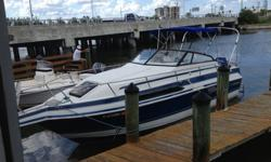 Regal Ambassador 233XL Aft Cabin with 260 HP Mercruiser V8 SST Prop and back prop. I just bought a one year old camper top with full covers, compass, distributor, plugs, oil, VHF, steering, blower, bildge, thermostat, captain chair, radio, cd and ipod
