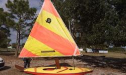 Sunfish sailboat in good condition.