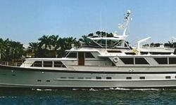 1982 86 FT Burger Motor Yacht Raised PilothouseBEAM: 20?, SPEED: 16 knots@1800rpm, RANGE: 2500 Hull : aluminum, Air Conditioning System: chill water, Main engine: 4495 hrs, Generator 1: 1,775 hrs, Generator 2: 5,408 hrs. , bow thruster, new canvas top