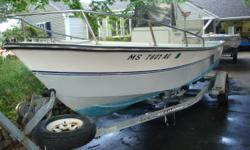 1989 Aquasport Osprey w/Evinrude 90HP ETEC installed new in 09. Very low hours. Dealer maintained since new. Boat is turn-key. New batteries last season. Wiring system renewed, new fuse box, gnd block, battery cables, battery mounts etc etc. Garmen 2 yrs